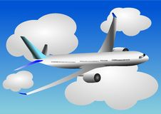 Vector Illustration Of Airplane Or Airbus Plane Stock Photos