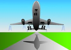 Vector Illustration Of Airplane Or Airbus Plane Royalty Free Stock Images