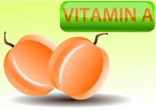 Free Vector Illustration Of Apricot And Vitamin A Royalty Free Stock Photography - 13689057