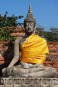 Free Old Image Of Buddha Royalty Free Stock Images - 13689109