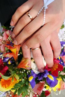 Free Wedding Rings Royalty Free Stock Photography - 13689127