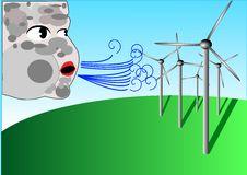 Free Wind Turbines And Aeolus God Stock Photos - 13689133