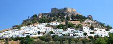 Free Lindos Acropolis Royalty Free Stock Photography - 13689137