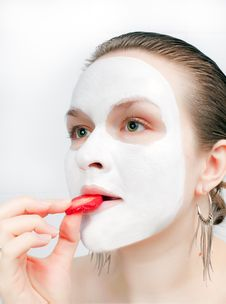 Free Young Women With Face Mask Royalty Free Stock Photography - 13689717