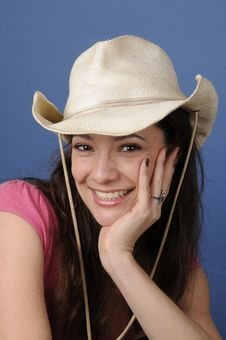 Free Woman In Cowboy Hat Stock Photos - 13689723