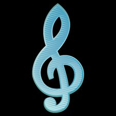 Treble Clef.Vector Illustration Stock Image