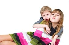 Free Sweet Sister And Brother Royalty Free Stock Photography - 13689937