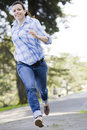 Free Woman Running Stock Image - 13690121