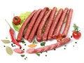 Free Sausages Royalty Free Stock Photos - 13691768