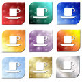 Free Colorful Coffee Beverage  Icon Set Royalty Free Stock Photo - 13695185