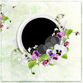 Free Green Spring Frame With Beautiful Flowers Royalty Free Stock Images - 13697049