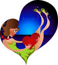 Free Girl In Love Original Design Stock Images - 13699674