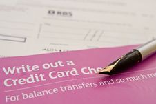 Free Write Out A Credit Card Check Or Cheque. Stock Photo - 13690100