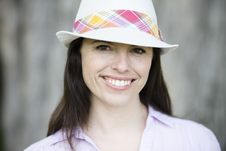 Free Woman In Hat Stock Photo - 13690110