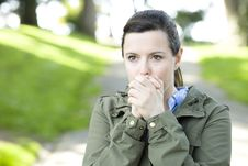 Free Woman Blowing Hands Stock Photos - 13690113
