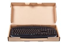 Free The Keyboard In A Box Isolated On A White. Royalty Free Stock Photo - 13690755