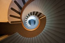 Free Spiral Stairs Down Stock Photography - 13690792