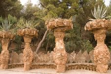 Free Park Guell By Antoni Gaudì, Barcelona Stock Image - 13691001