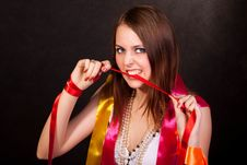 Free Colour Ribbons Royalty Free Stock Photography - 13691267