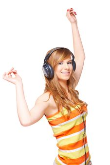 Free Girl With Headphones Stock Photography - 13691312