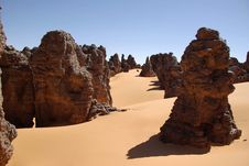 Desert In Libya Stock Images
