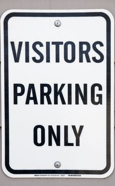 Free Visitors Parking Only Stock Photography - 13691522
