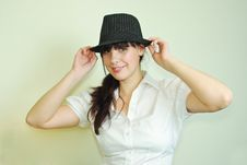 Free Girl In Hat Royalty Free Stock Photography - 13691737