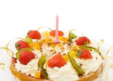 Free Festive Strawberry Cake Royalty Free Stock Photo - 13691865