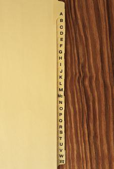 Free Alphabet Tabs Stock Photos - 13692053