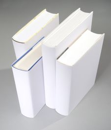 The Row Of Blank Books Royalty Free Stock Image