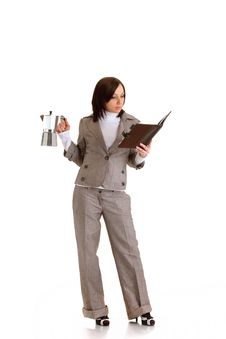 Business Woman With Timer Stock Images