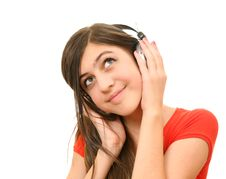 Free The Girl In Headphones Stock Photography - 13692672