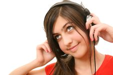 Free The Girl In Headphones Stock Photo - 13692700