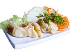 Free Pelmeni On A Plate Stock Image - 13692701