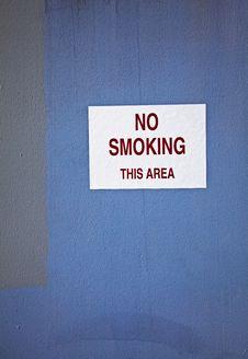No Smoking Sign Royalty Free Stock Image