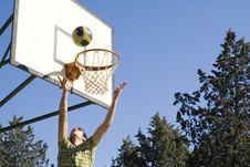 Free Young Man And Basketball Stock Image - 13692961