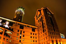 Free Night View On Modern Business Building In Moscow Royalty Free Stock Photography - 13693337