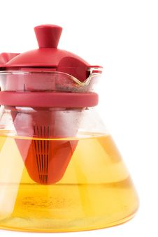 Free Glass Teapot Isolated On A White Background. Royalty Free Stock Images - 13693419