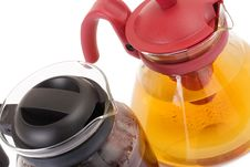 Free Glass Teapot Isolated On A White Background Royalty Free Stock Photography - 13693437