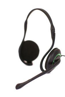 Free Black Headphones Isolated On White Background Stock Photos - 13693493
