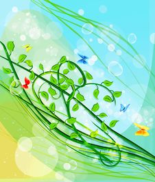 Free Beautiful Green Leaf Background Royalty Free Stock Image - 13693896