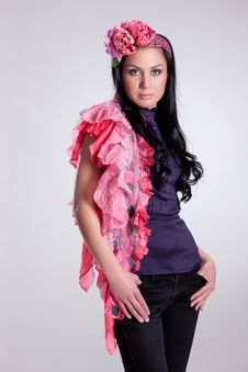 Free Young Woman In Fashionable Clothing Royalty Free Stock Photo - 13694225
