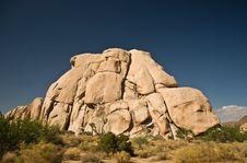Scenic Rocks And Trees In JoshuaPark Stock Image