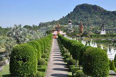 Pattaya, Thailand: Nong Nooch Gardens Royalty Free Stock Photos