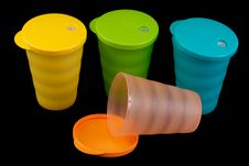 Colour Plastic Glasses Stock Photo