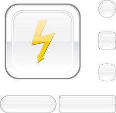 Free Warning White Button. Royalty Free Stock Photo - 13694635