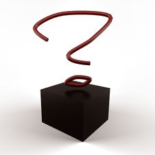 Question Box Royalty Free Stock Image