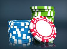 Free Gambling Chip Royalty Free Stock Photos - 13695008