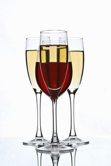 Free Champagne And Wine Glasses Stock Images - 13695474