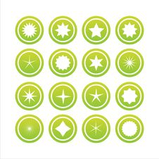 Free Set Of 16 Star Signs Royalty Free Stock Photos - 13695558